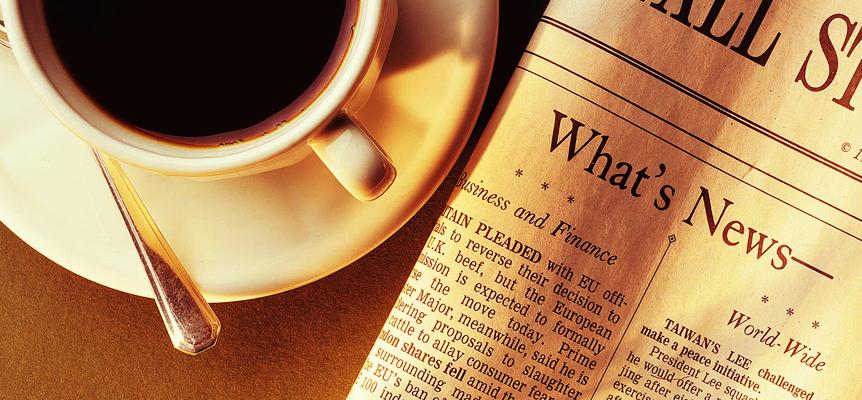 newspaper-coffee-red