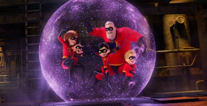 "PRACTICE MAKES PERFECT – In the midst of battling the Underminer villain, Violet protects her family by throwing one of her most super force fields yet. Featuring Sarah Vowell as the voice of Violet, Holly Hunter as the voice of Helen, Craig T. Nelson as the voice of Bob and Huck Milner as the voice of Dash, Disney•Pixar's ""Incredibles 2"" busts into theaters on June 15, 2018. ©2018 Disney•Pixar. All Rights Reserved."